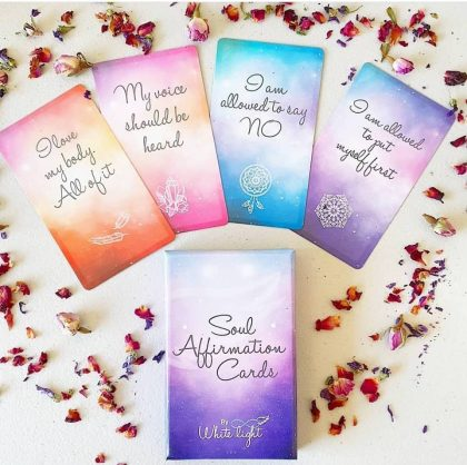 White Light Affirmation Cards