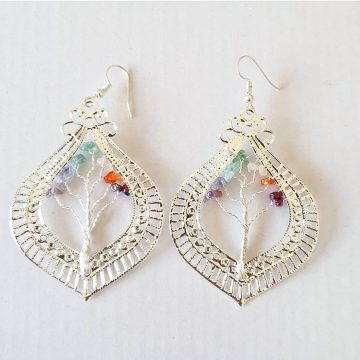 Chakra Gem Earrings Teardrop