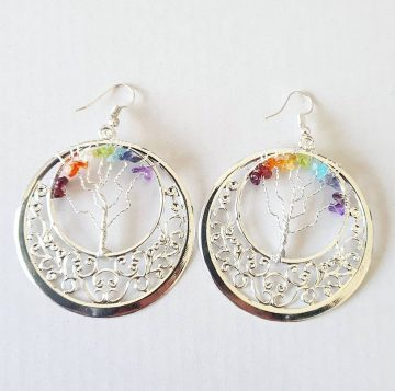 Chakra Gem Earrings Circle