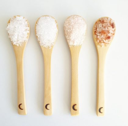 Moon Spoons with Bath Salts